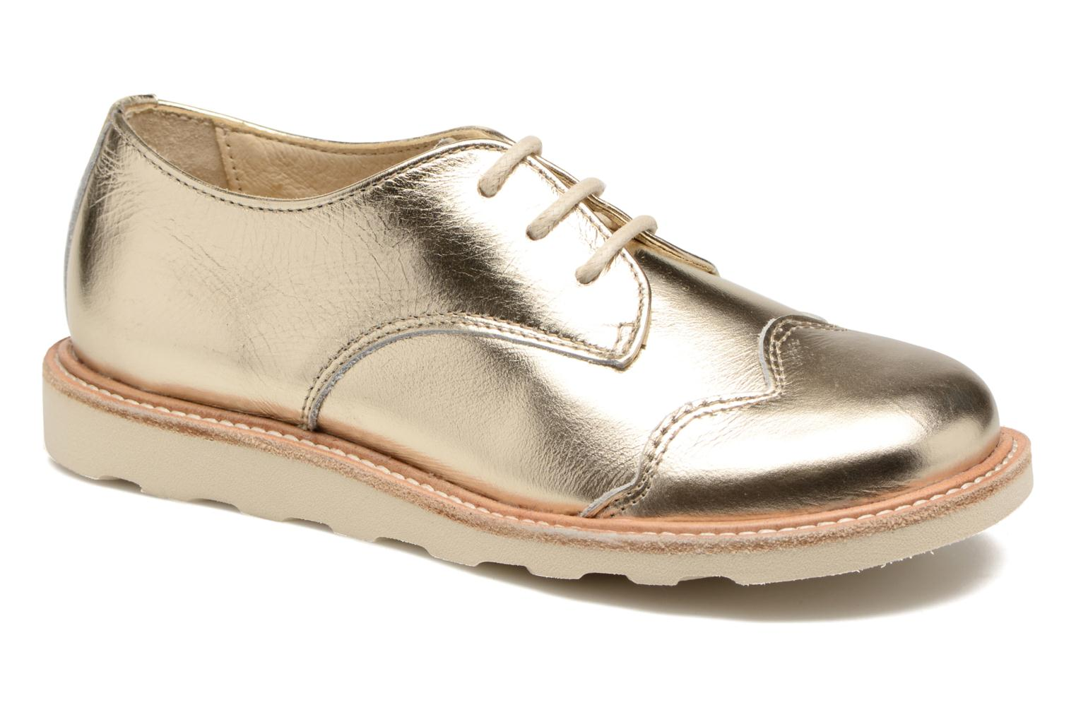 Lace-up shoes Young Soles Olive Bronze and Gold detailed view/ Pair view