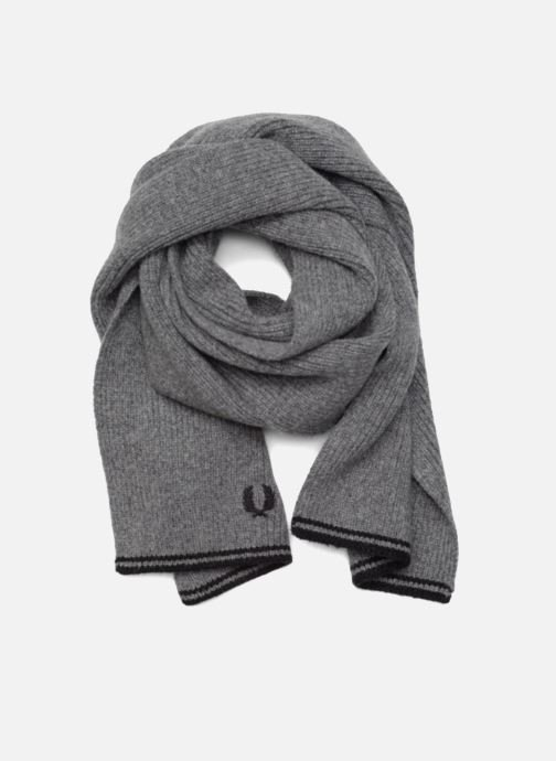 Echarpes et Foulards Fred Perry Twin Tipped Lambswool Scarf Gris vue  détail paire d17b4d4532d