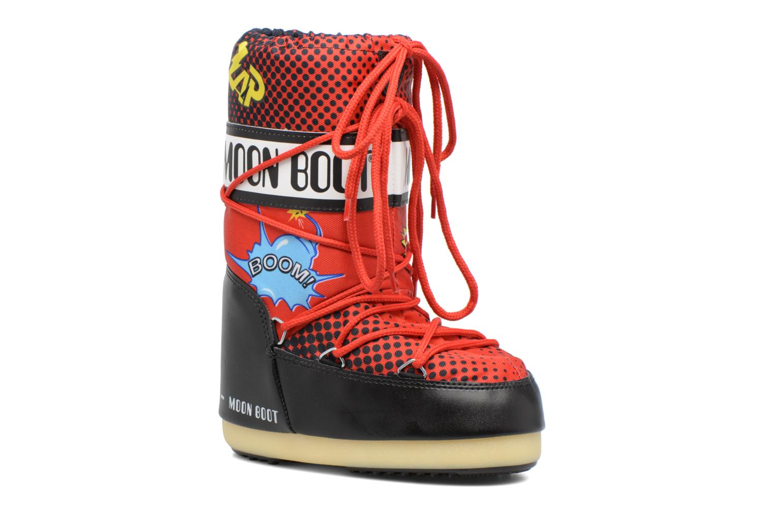 Sport shoes Moon Boot Jr Comics Red detailed view/ Pair view