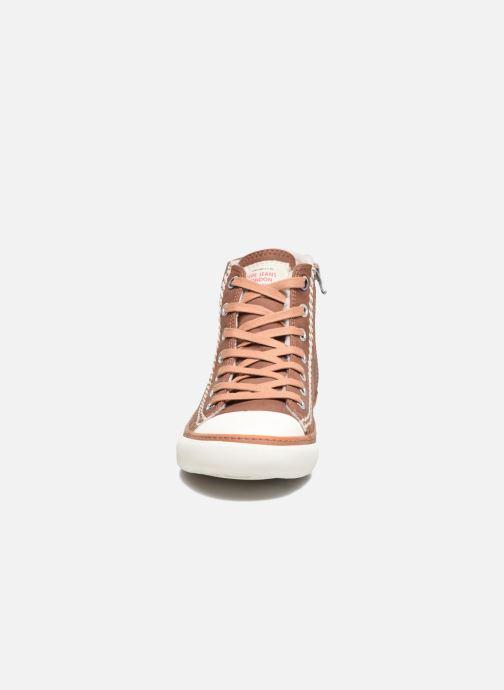 Baskets Pepe jeans Raider Marron vue portées chaussures