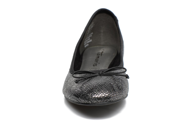 Ballerines Tamaris Irwaen Gris vue portées chaussures