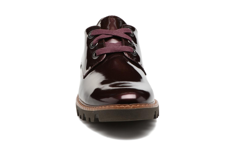 Chaussures à lacets Tamaris Yndris Bordeaux vue portées chaussures
