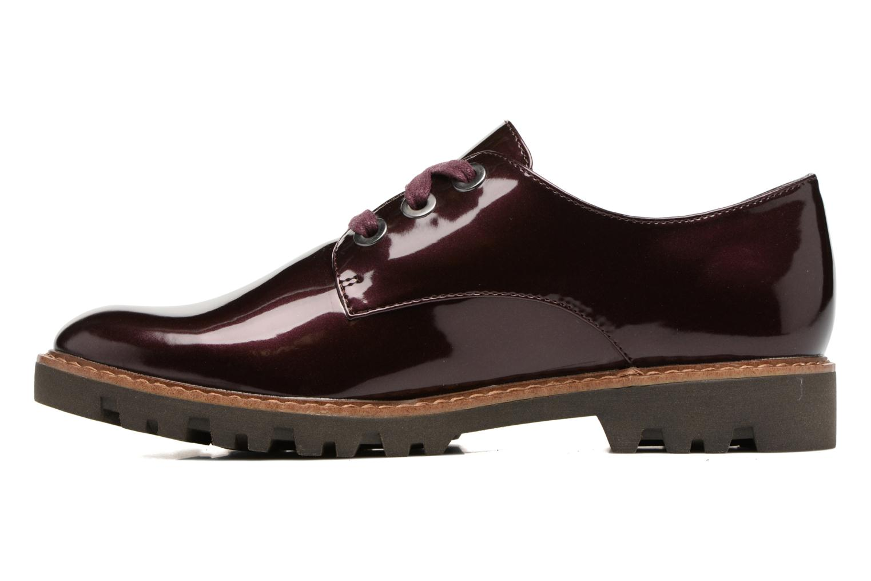Chaussures à lacets Tamaris Yndris Bordeaux vue face