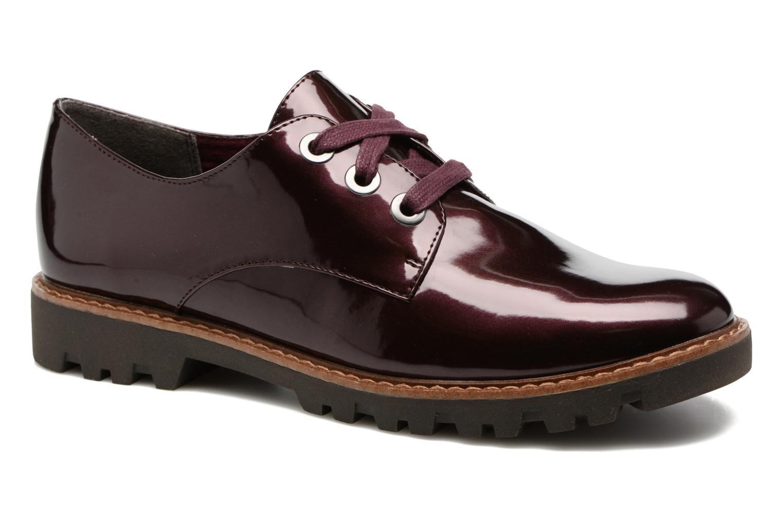 Chaussures à lacets Tamaris Yndris Bordeaux vue détail/paire