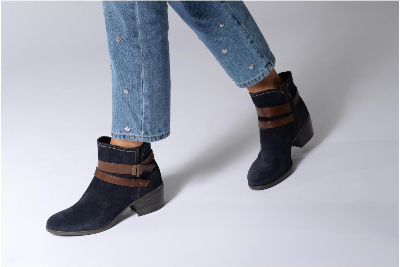 Bottines et boots Tamaris Athellen Bleu vue bas / vue portée sac