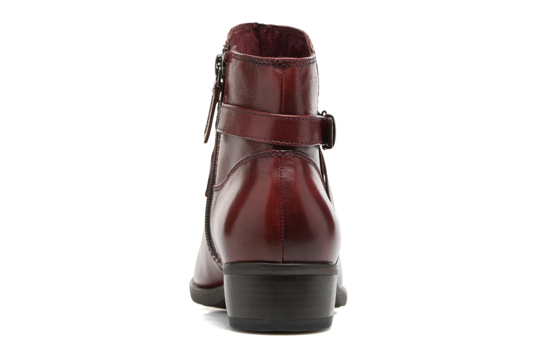 Bottines et boots Tamaris Elbereth Bordeaux vue droite