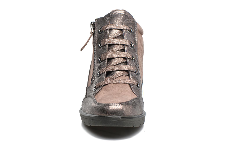 Baskets Tamaris Elmediz Beige vue portées chaussures