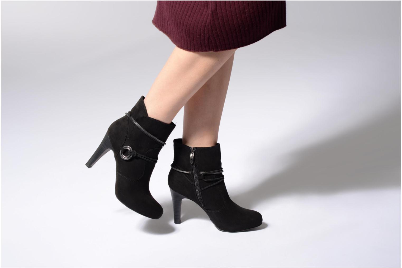 Bottines et boots Tamaris Mona Noir vue bas / vue portée sac