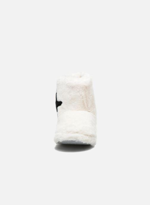 Pantuflas Sarenza Wear Chaussons Boots Femme Etoile Blanco vista del modelo