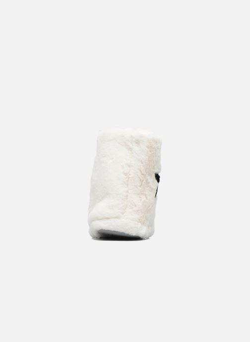 Chaussons Sarenza Wear Chaussons Boots Femme Etoile Blanc vue droite