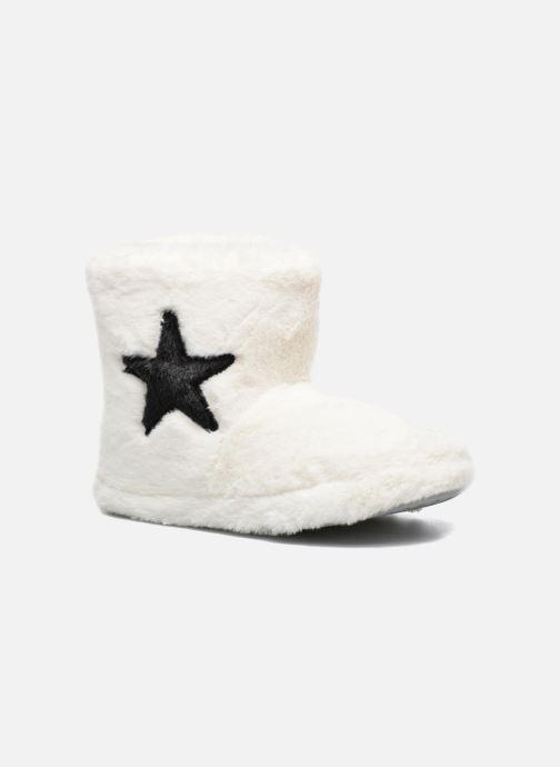 Chaussons Sarenza Wear Chaussons Boots Femme Etoile Blanc vue détail/paire