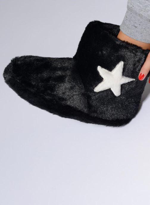 Pantofole Sarenza Wear Chaussons Boots Femme Etoile Nero immagine dal basso