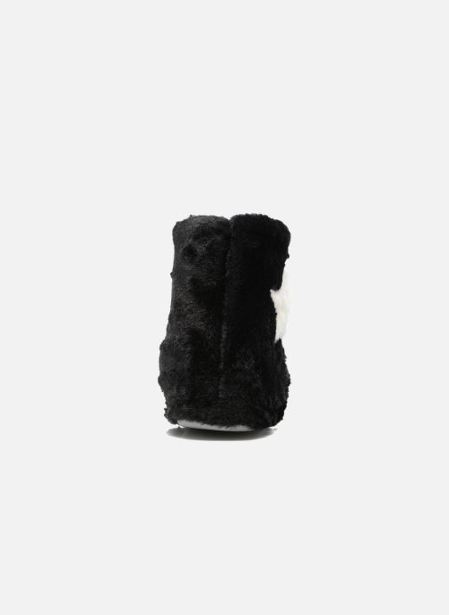 Pantofole Sarenza Wear Chaussons Boots Femme Etoile Nero immagine destra