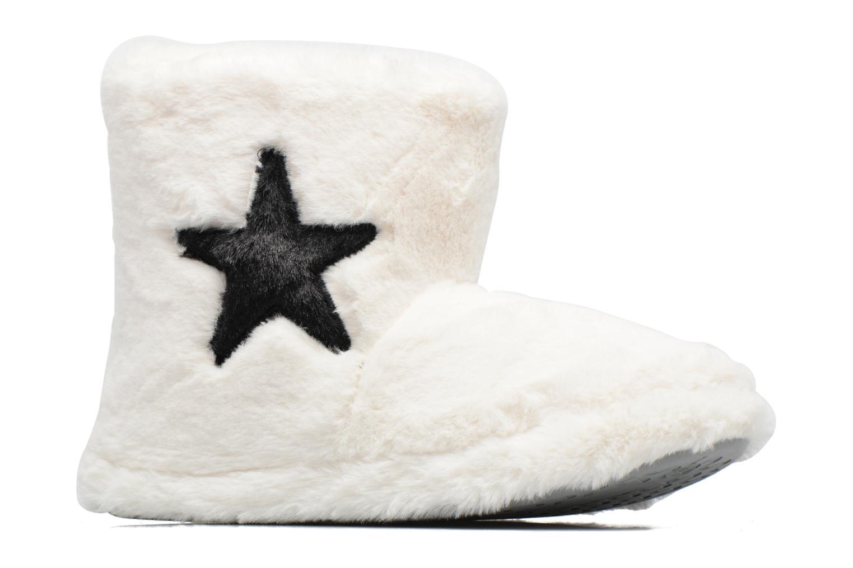Chaussons Sarenza Wear Chaussons Boots Femme Etoile Blanc vue derrière