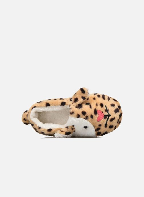 Pantofole Sarenza Wear Chaussons Fille Animal Marrone immagine sinistra