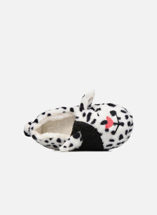 Hausschuhe Sarenza Wear Chaussons Fille Animal weiß ansicht von links