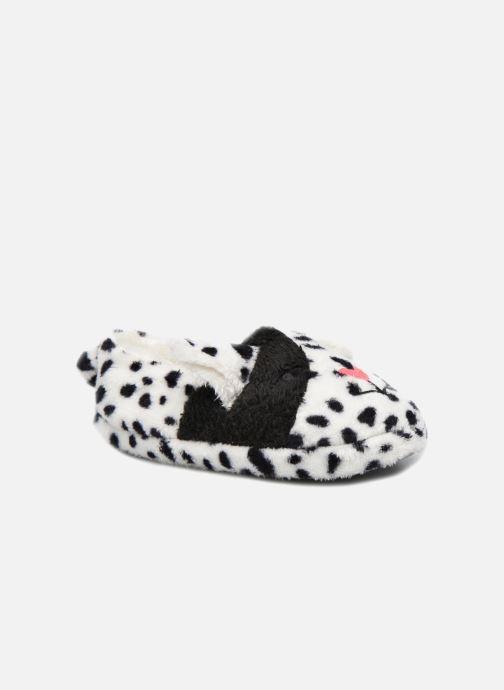 Hausschuhe Sarenza Wear Chaussons Fille Animal weiß detaillierte ansicht/modell