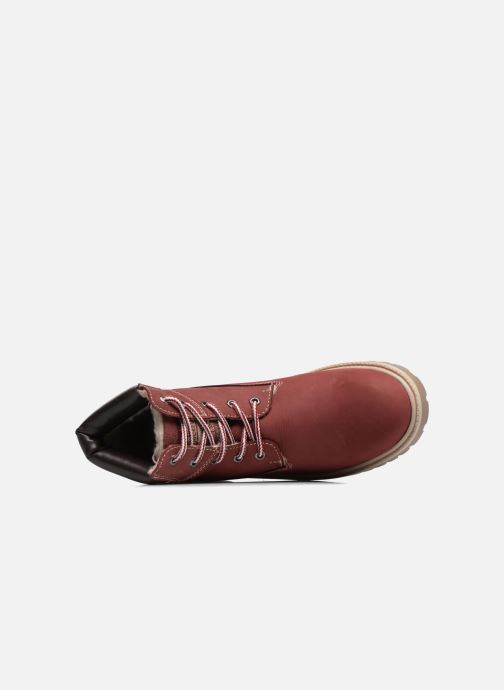 Ankle boots Dockers Klara Burgundy view from the left
