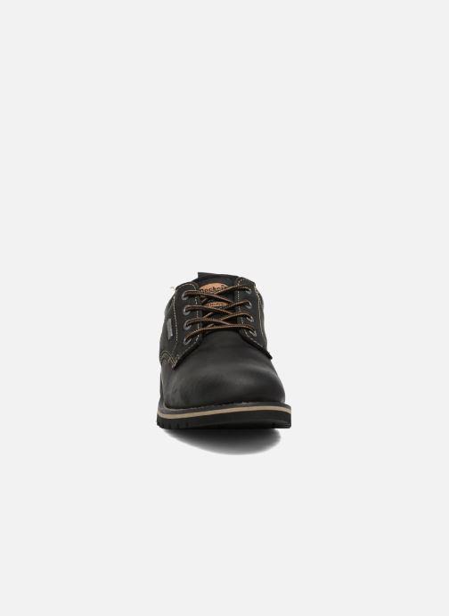 Zapatos con cordones Dockers Rolf Negro vista del modelo