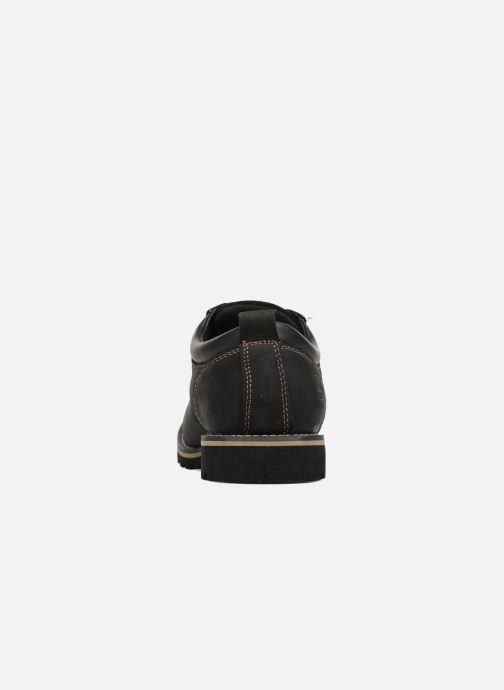 Zapatos con cordones Dockers Rolf Negro vista lateral derecha