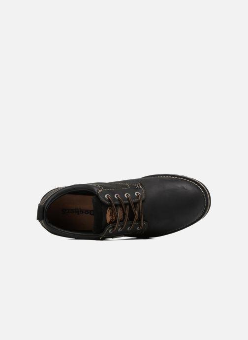 Zapatos con cordones Dockers Rolf Negro vista lateral izquierda