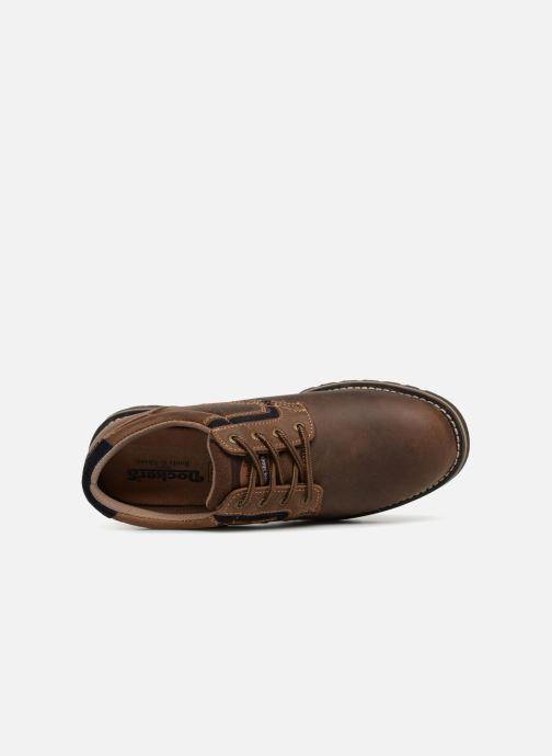 Chaussures à lacets Dockers Rolf Marron vue gauche