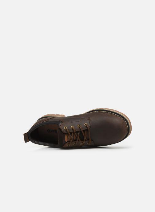 Zapatos con cordones Dockers Rolf Marrón vista lateral izquierda