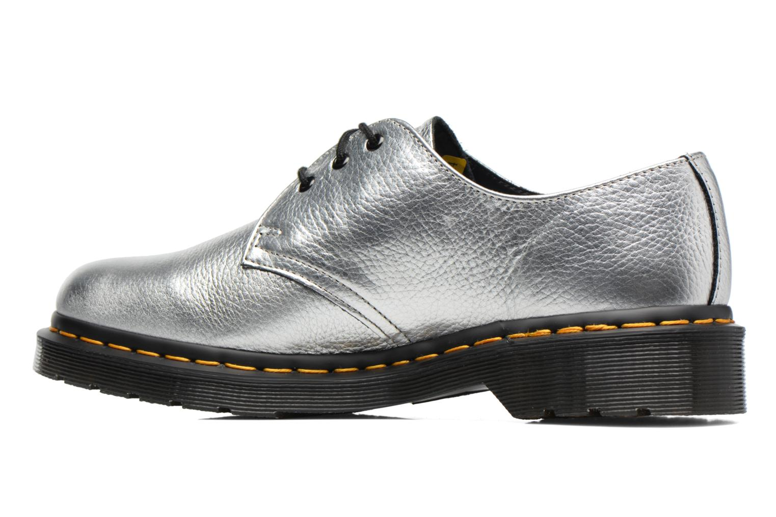 Lace-up shoes DR. Martens 1461 MET Silver front view