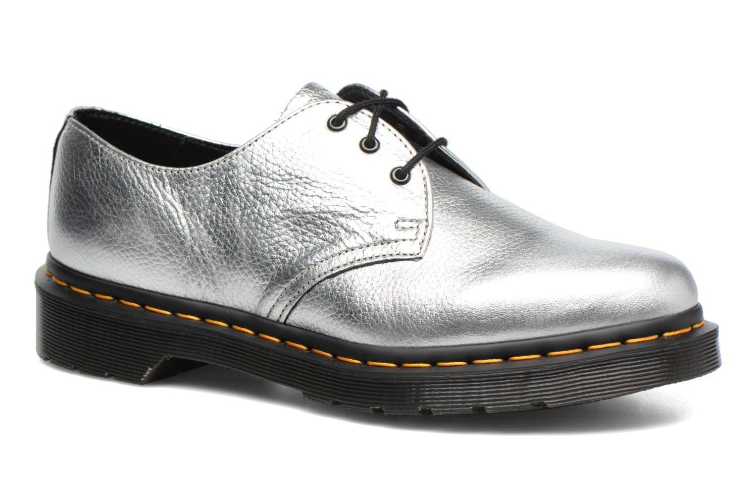 Lace-up shoes DR. Martens 1461 MET Silver detailed view/ Pair view