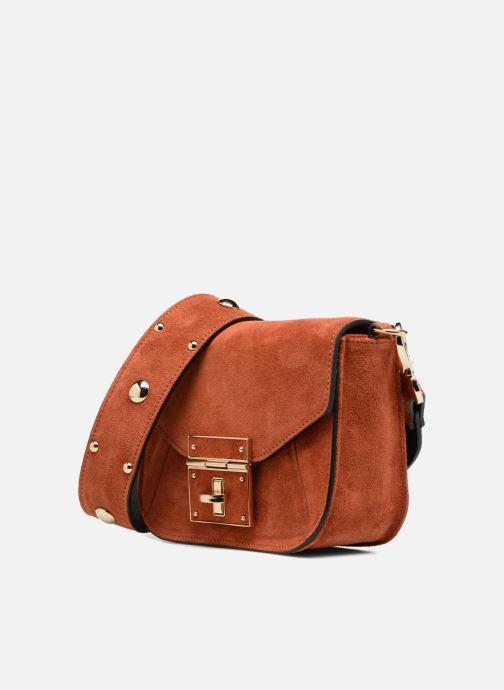 Handtassen COSMOPARIS Crossbody Olana Velvet Oranje model