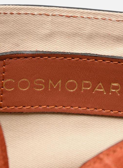 Handtassen COSMOPARIS Crossbody Olana Velvet Oranje achterkant