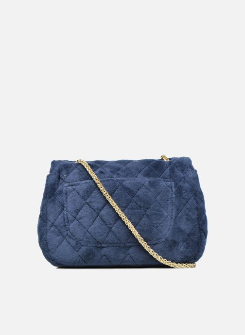 Bolsos de mano COSMOPARIS Crossbody Omia Velvet Azul vista de frente