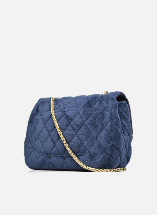 Bolsos de mano COSMOPARIS Crossbody Omia Velvet Azul vista lateral derecha