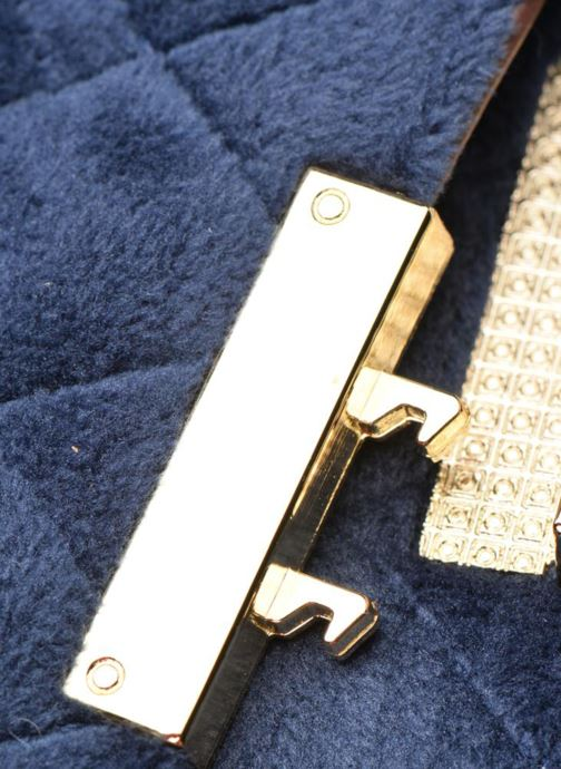 Bolsos de mano COSMOPARIS Crossbody Omia Velvet Azul vista lateral izquierda