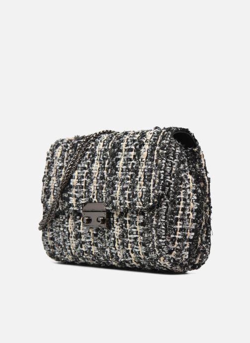 Borse COSMOPARIS Porté épaule Onela Tweed Grigio modello indossato