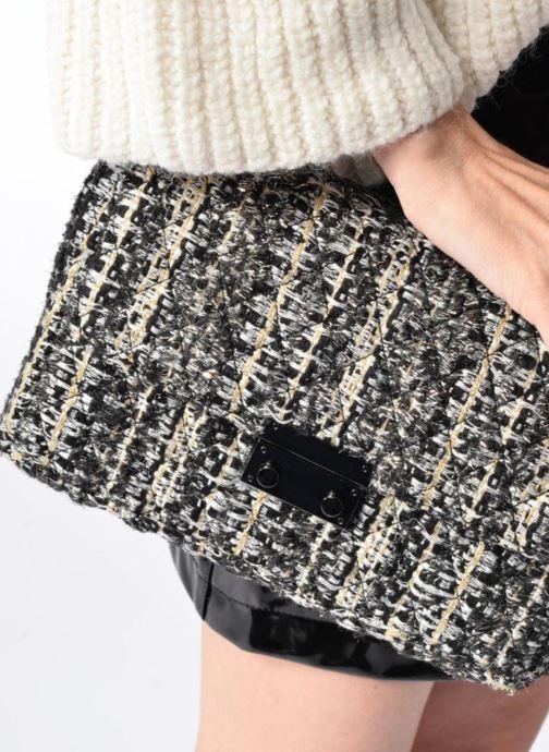 Sacs à main COSMOPARIS Porté épaule Onela Tweed Gris vue bas / vue portée sac