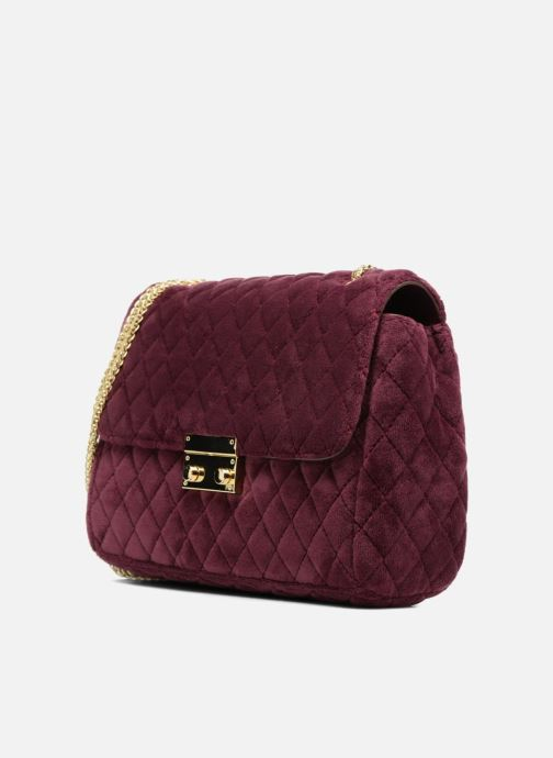 Handtaschen COSMOPARIS Porté épaule Onela Velvet weinrot schuhe getragen