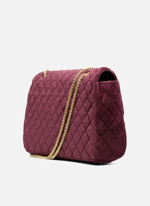 Handtaschen COSMOPARIS Porté épaule Onela Velvet weinrot ansicht von rechts