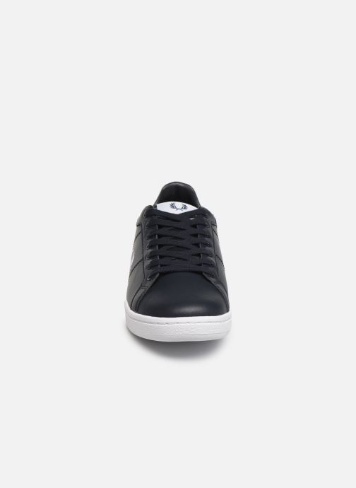 Baskets Fred Perry B722 Leather Bleu vue portées chaussures