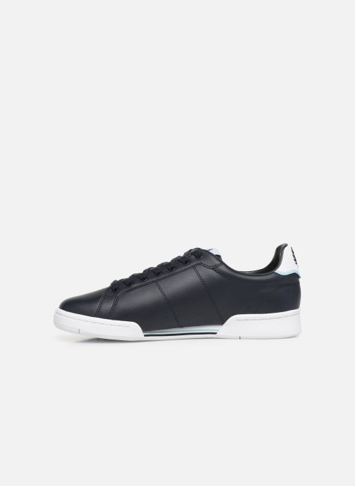 Baskets Fred Perry B722 Leather Bleu vue face