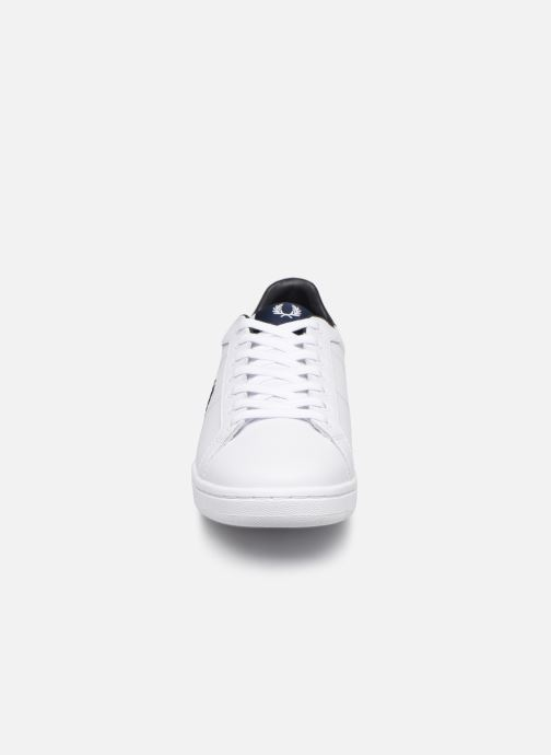 Baskets Fred Perry B722 Leather Blanc vue portées chaussures