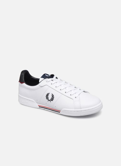 Sneakers Fred Perry B722 Leather Wit detail