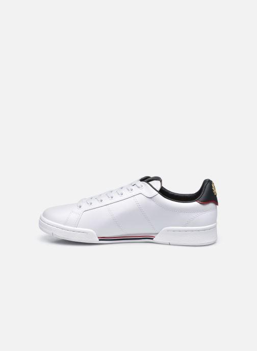 Sneaker Fred Perry B722 Leather weiß ansicht von vorne