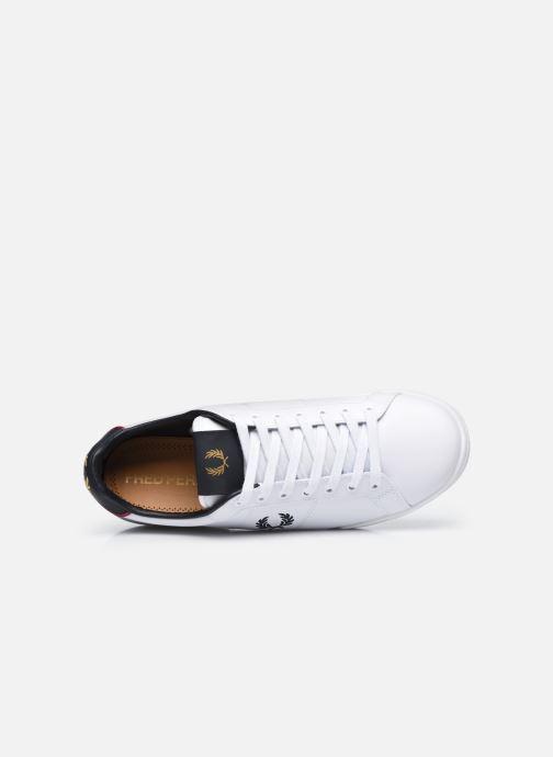 Sneaker Fred Perry B722 Leather weiß ansicht von links