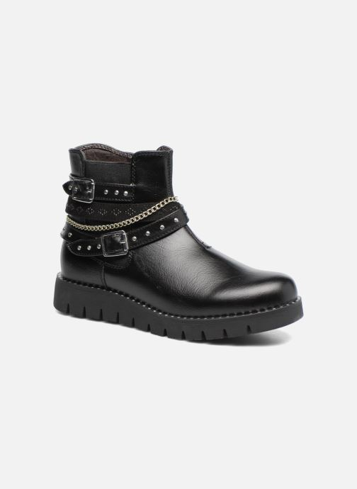 Ankle boots ASSO 60156 Black detailed view/ Pair view