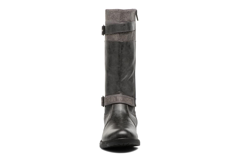 Bottes ASSO 58009 Gris vue portées chaussures
