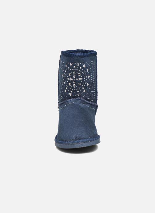 Bottes ASSO 6000 Bleu vue portées chaussures
