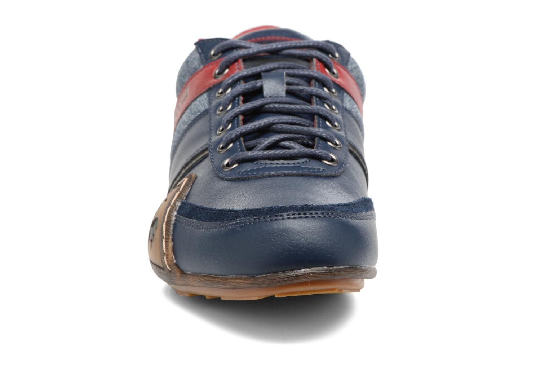 Baskets Le Coq Sportif Andelot Bleu vue portées chaussures