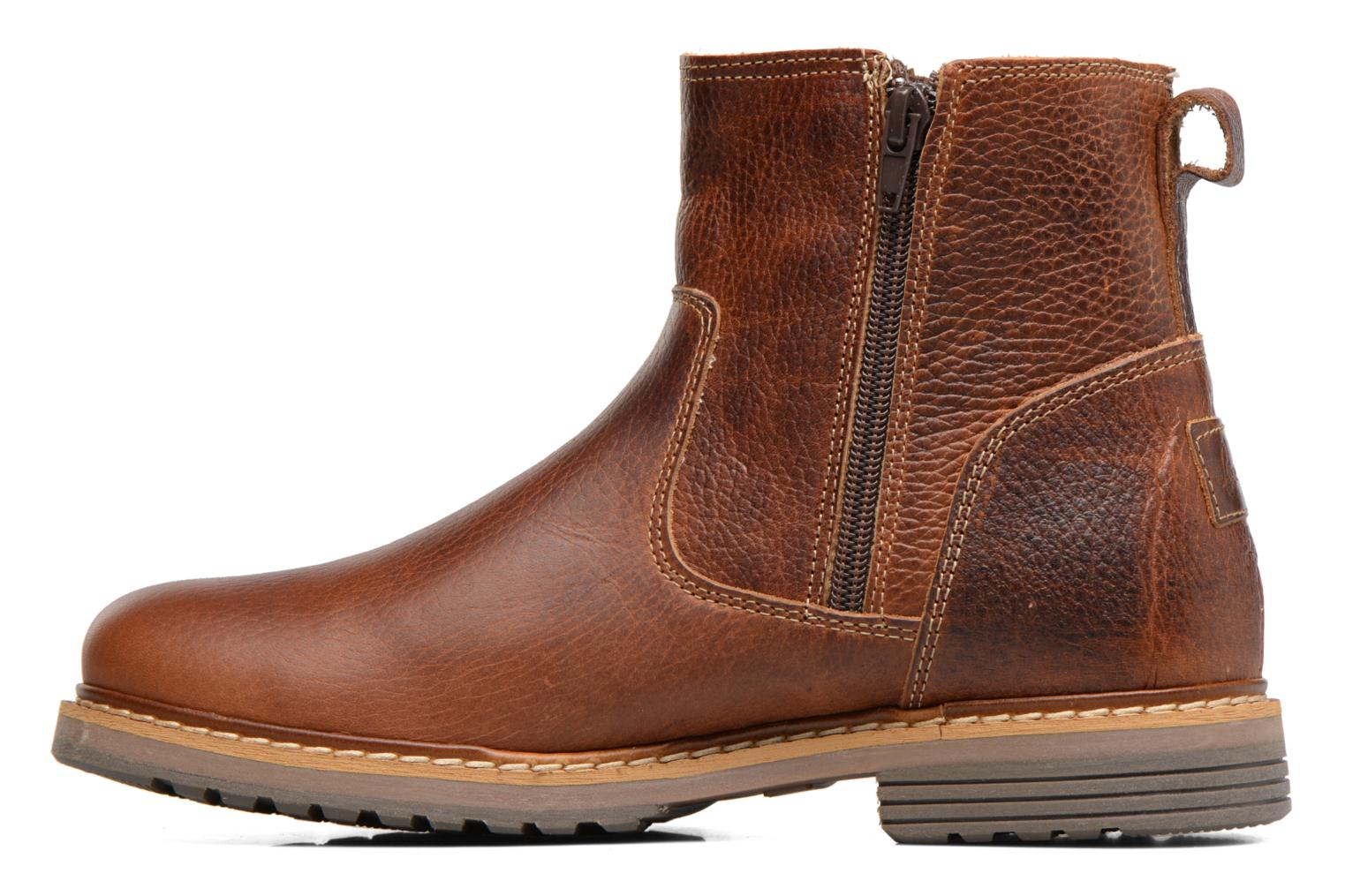 Ankle boots Bullboxer Manfor Brown front view