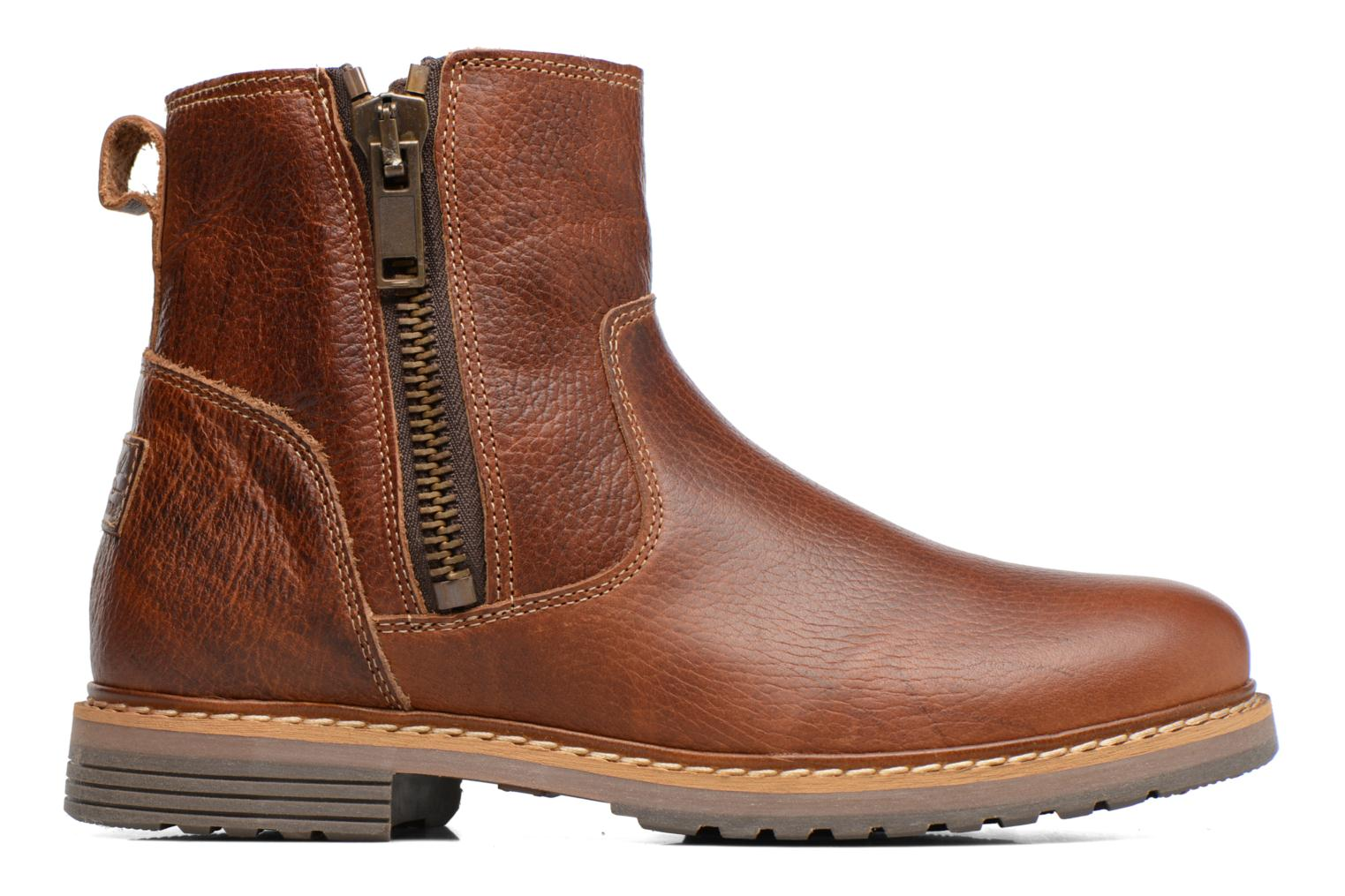 Ankle boots Bullboxer Manfor Brown back view